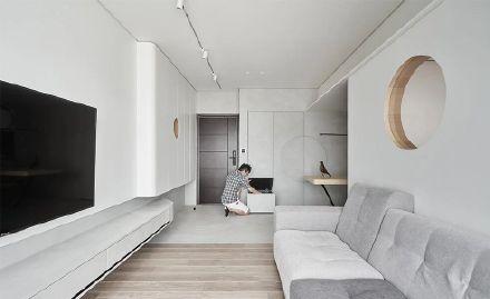 保定56平米的空间打造四居室装修效果图