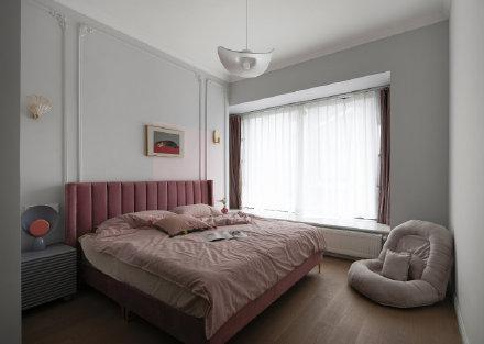 常德灰色和粉色为主色调装修效果图