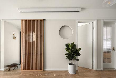 常德89平方米日式原木风装修效果图