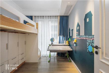 海口100㎡北欧三居室装修效果图