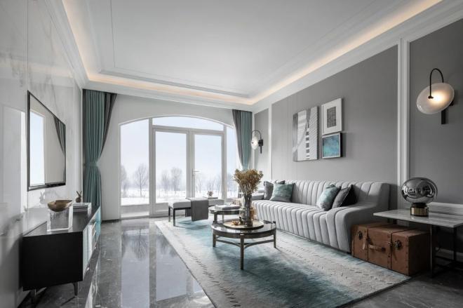 现代美式风三居室装修效果图