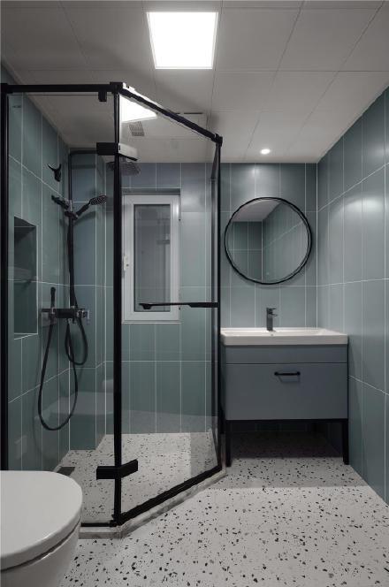 海口95㎡现代简约三居室装修效果图