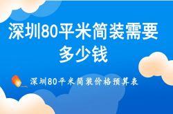 深圳80平米简装需要多少钱