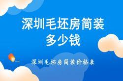 深圳毛坯房简装价格预算表