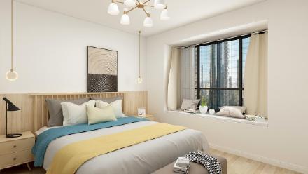深圳165㎡现代北欧三居室装修效果图