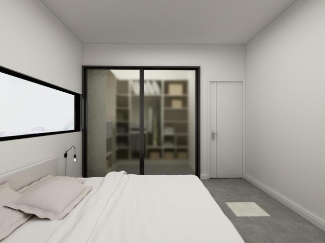 清远三居室极简风装修效果图