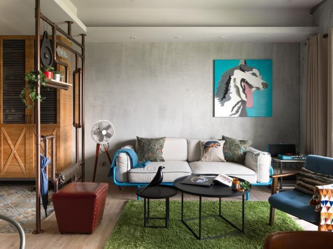 中山公寓复古北欧风装修效果图