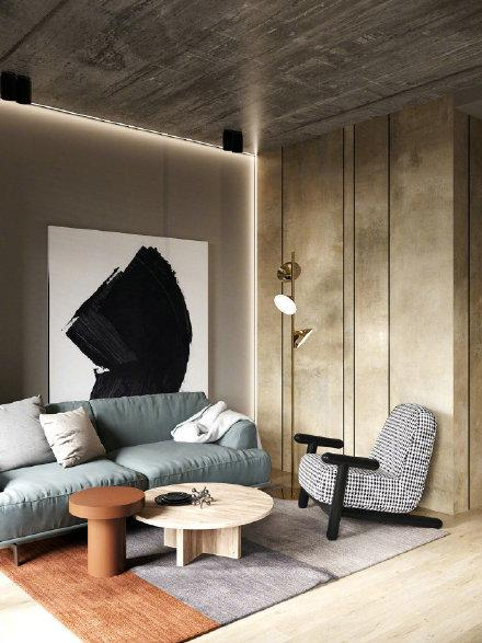 56m²色彩感满满的现代风格设计效果图