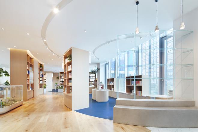 桂林图书馆清新风装修效果图