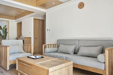 130平原木日式風三居室裝修效果圖