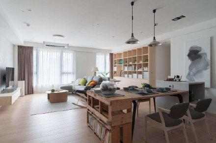福州日式简约风二居室装修设计装修效果图