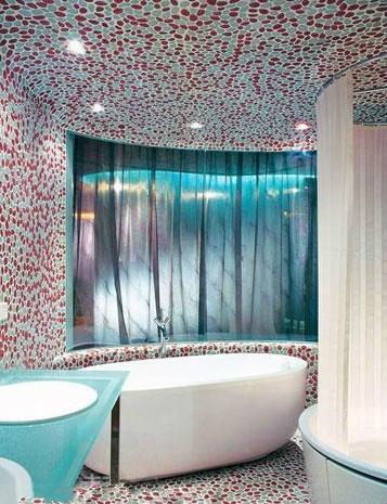 清新简约风浴室浴盆装修效果图
