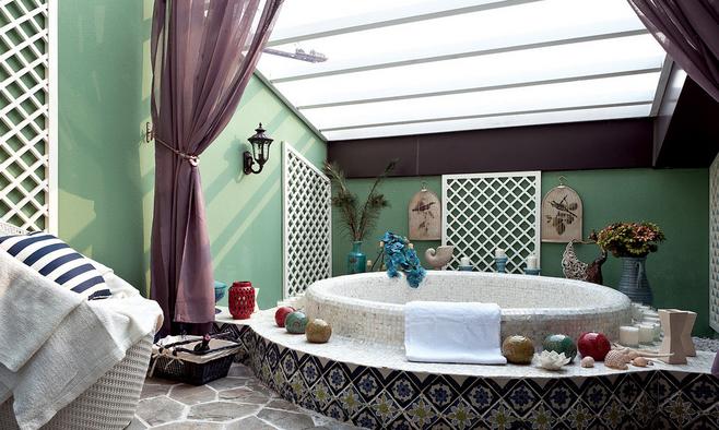 地中海海洋风浴室装修效果图