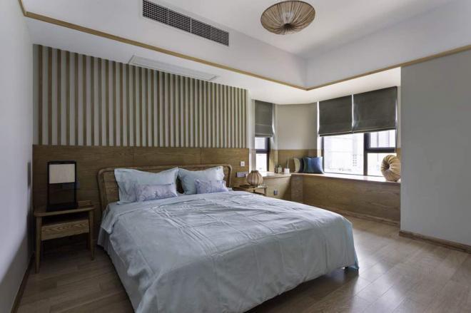 济南两居室原木风装修效果图