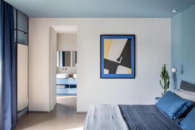 唐山大户型蓝色系现代风装修效果图