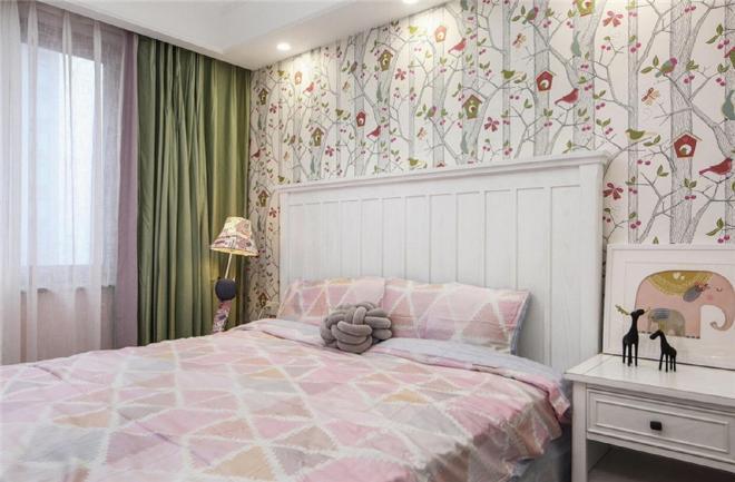 湖北沙市三居室美式风格装修效果图