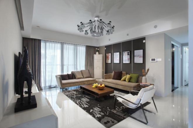 苏州三居室简洁现代风装修效果图