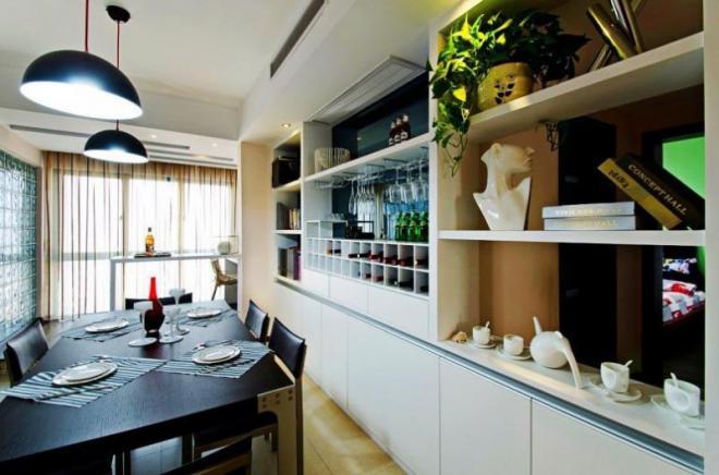 昆明一居室现代简欧风装修效果图