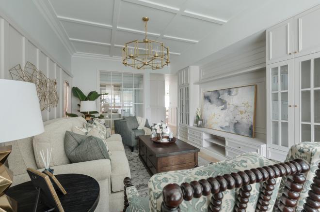 焦作三居室轻奢美式风装修效果图