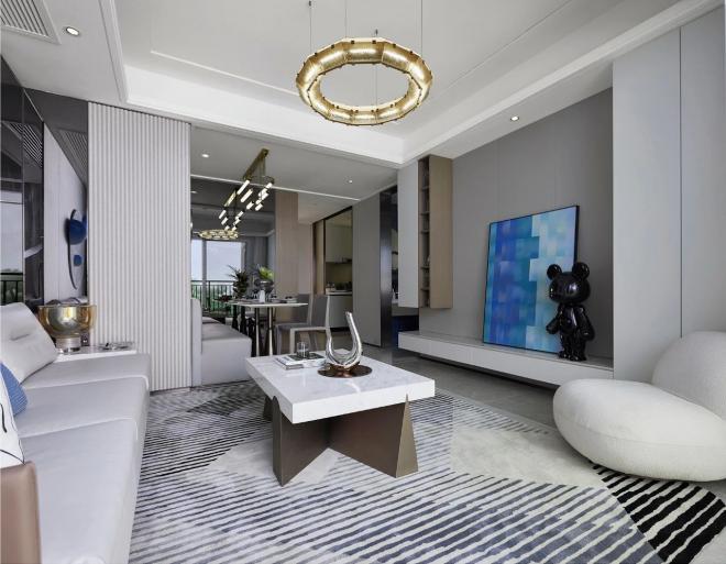 杭州萧山108平米现代风格装修效果图