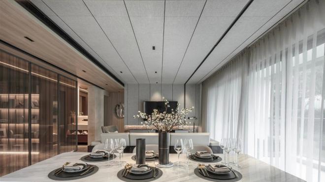 昆明86平米现代轻奢风室内装修效果图