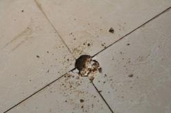 家里装修瓷砖砸一小坑怎么修补?