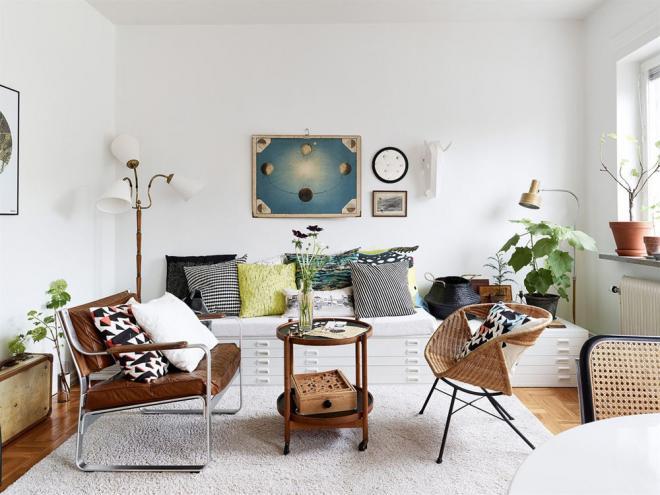 小清新复古文艺北欧风格卧室装修效果图
