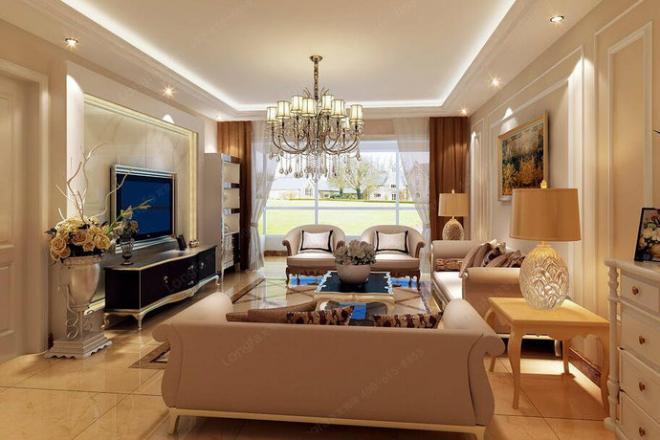 现代欧式风四居室家居装修效果图 家居装修效果图大全