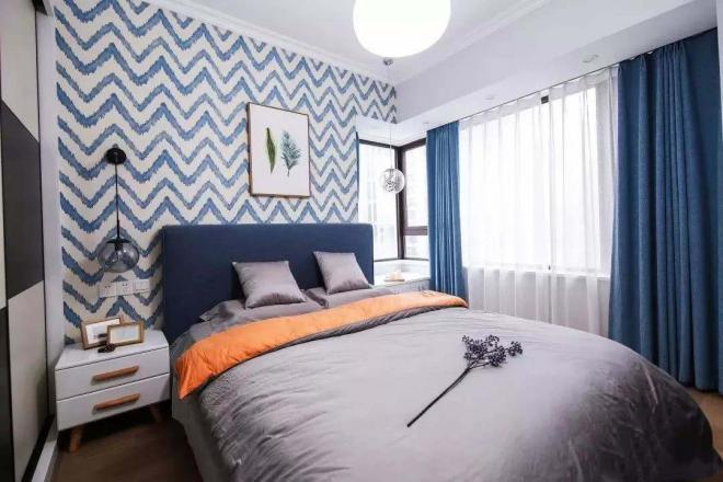 北欧卧室简约风格装修效果图