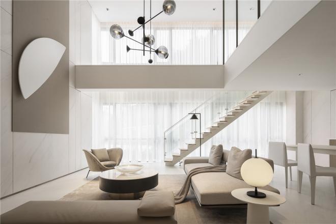 loft简约风格卧室装修效果图