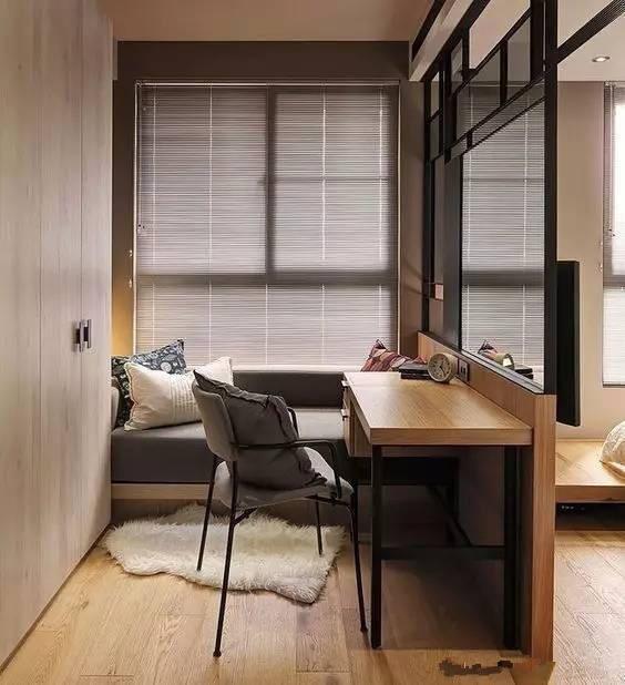 榻榻米+书桌的组合设计装修效果图 家居设计图