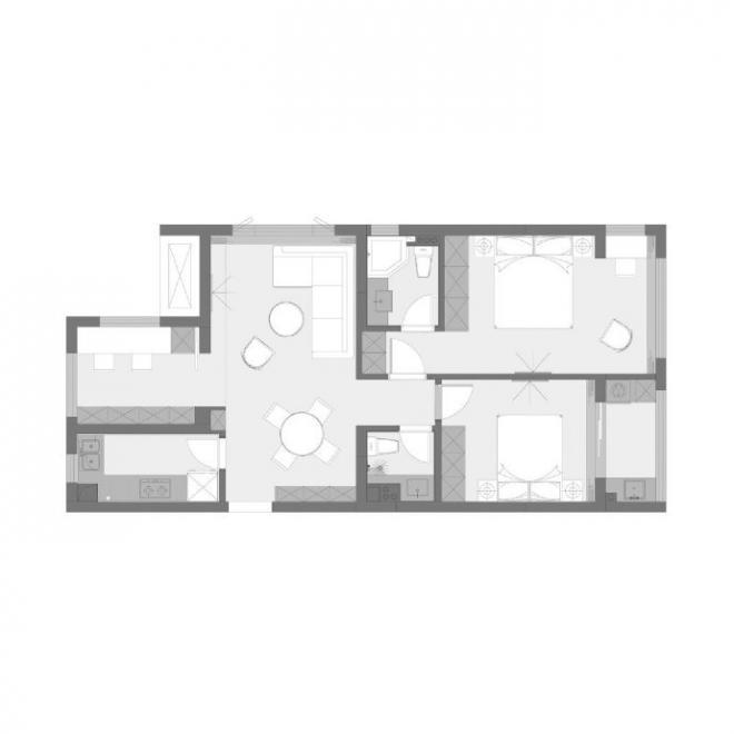 90㎡清新北欧风装修效果图 家居设计图