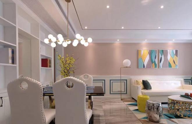 彩色法式三居室