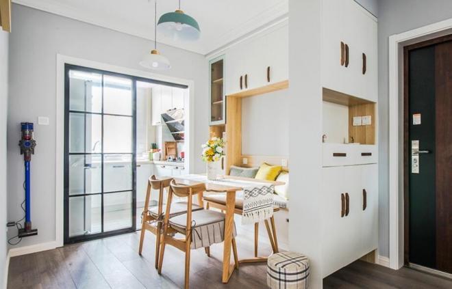 北歐風三居室餐廳裝修效果圖