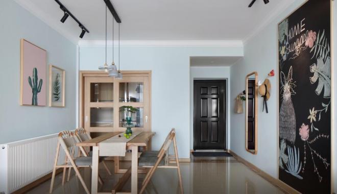 北欧风三居室餐厅装修效果图