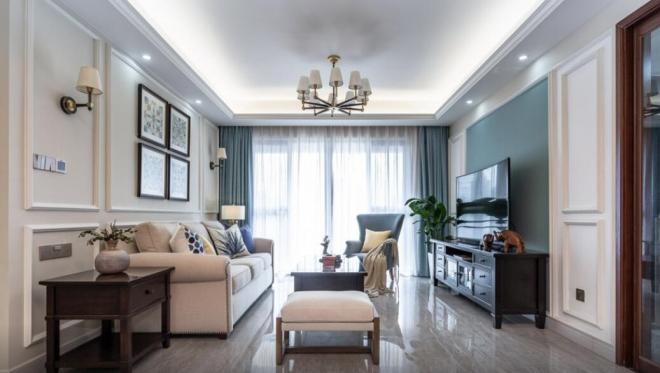 美式風格三居室客廳裝修效果圖