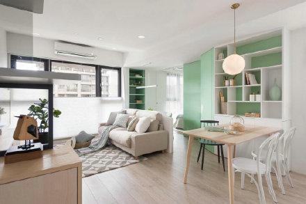 清新北歐風格家居裝修設計 室內外裝修效果圖