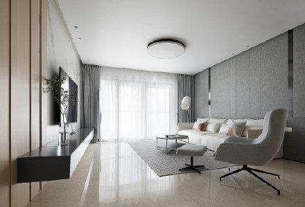 190㎡现代简约四居室 室内外装修效果图