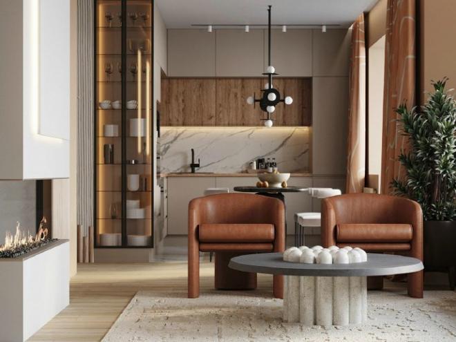 52㎡质简的优雅美学极简北欧风 室内外装修效果图