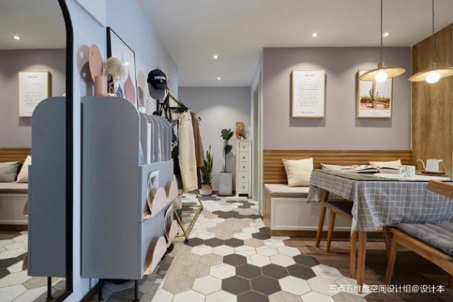90㎡现代混搭美家 室内外装修效果图