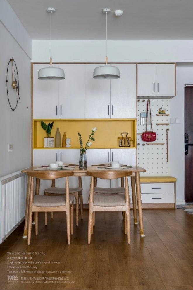 90㎡简约北欧风格温馨家 室内外装修效果图